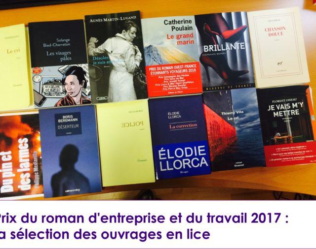 Prix du Roman d'entreprise et du travail 2017 : la sélection des livres